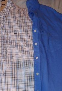 2 Men's 2xl button down short sleeve dress shirts